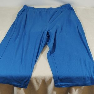 Woman Within Blue Knit Capris